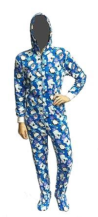 304faedbe7f2 Fun Apparel Womens Fun Prints Footies Footed One Piece Pajamas with ...