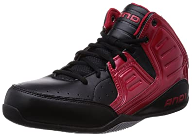 AND1 Rocket 4 Mid, Herren Basketballschuhe, Schwarz (Red/Black-Silver)