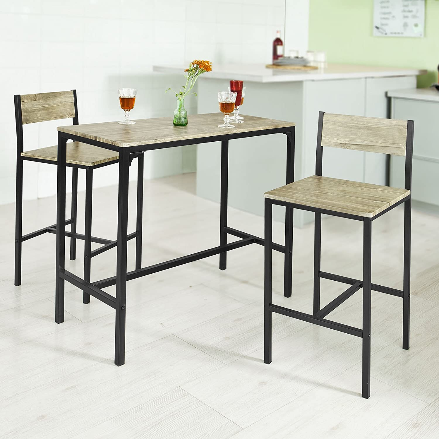 Amazon.com: Haotian Sling High Bistro Set ,Home Kitchen Outdoor ...