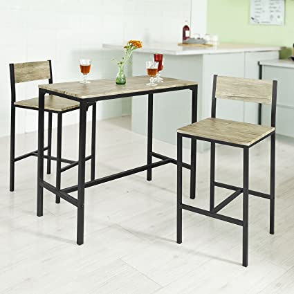 Haotian OGT03 Sling High Bistro Set,Home Kitchen Outdoor Garden Bar  Set,Patio Furniture, Dining Set