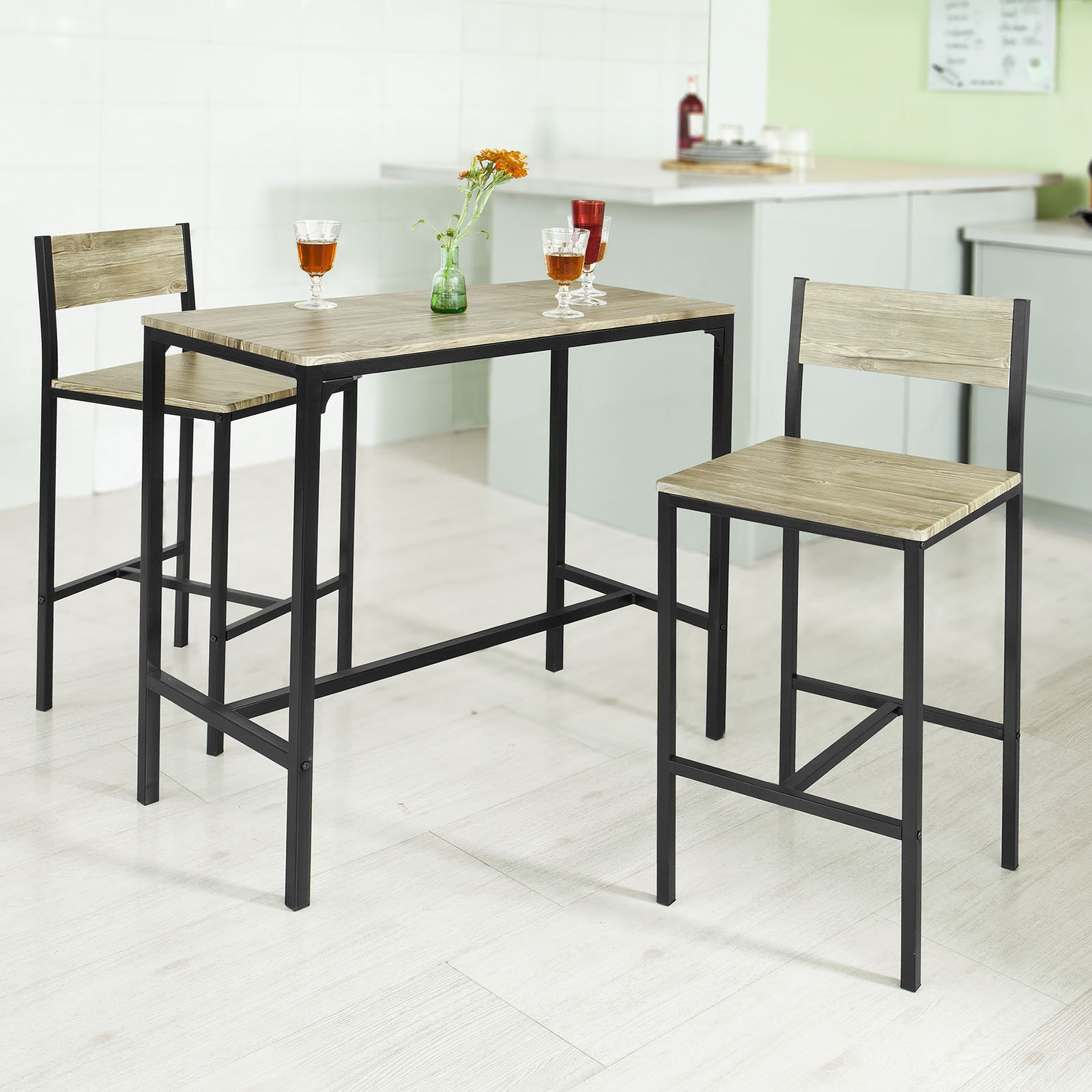 Haotian OGT03 Sling High Bistro Set,Home Kitchen Outdoor Garden Bar Set,Patio Furniture, Dining Set