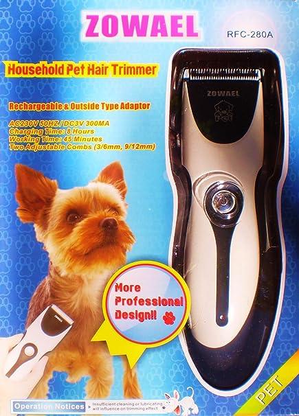 ZOWAEL RFC-280A Maquina Cortapelo Inalambrica Para Perros, Gatos, Mascotas y Animales domesticos