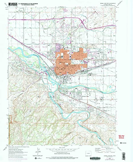 Amazon.com : YellowMaps Grand Junction CO topo map, 1:24000 Scale ...