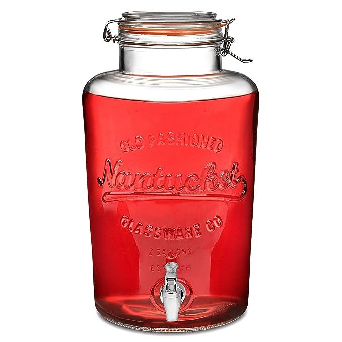 bar@drinkstuff - Dispensador de Bebidas de 8 litros, Estilo Vintage Kilner, dispensador de Bebidas: Amazon.es: Hogar
