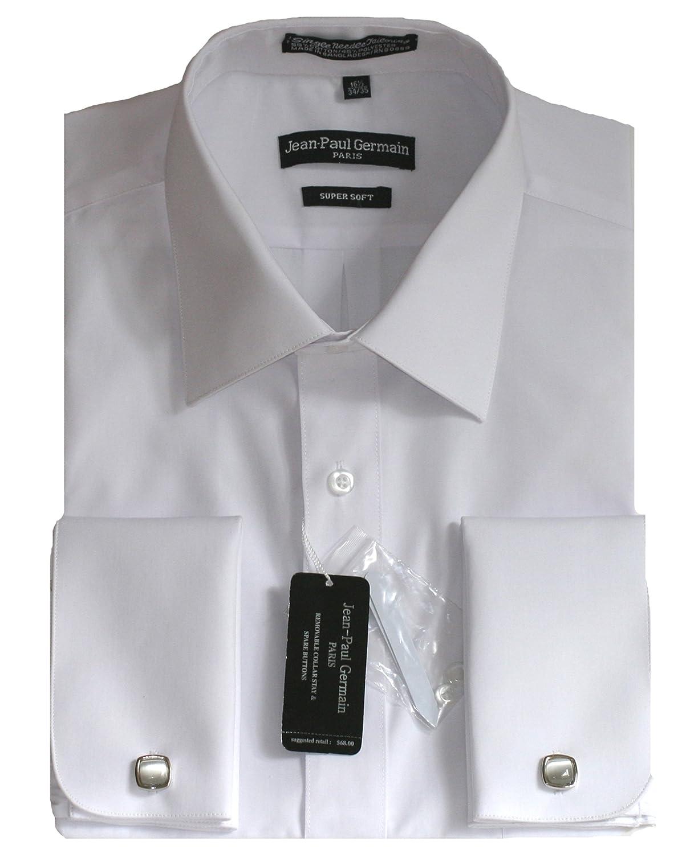 BVWI kohls wedding dresses White French Cuff Dress Shirt Cufflinks Included at Amazon Men s Clothing store Shirt For Cufflinks