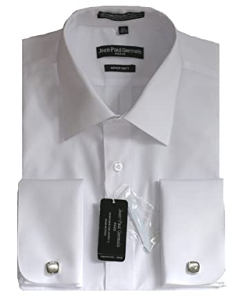 White French Cuff Dress Shirt (Cufflinks Included) at Amazon Men's ...