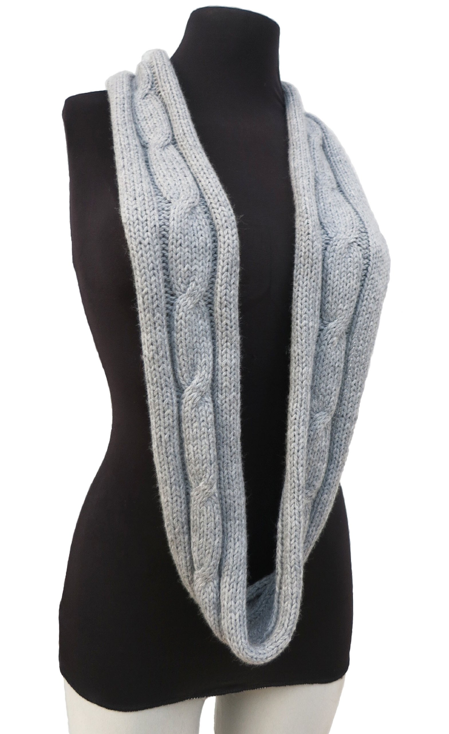 Handmade PURE Alpaca Infinity Loop Scarf - French Gray by BARBERY Alpaca Accessories