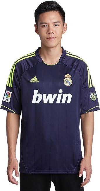Real Madrid C.F. Adidas Camiseta de fútbol, 2ª equipación, 2012-13, Color Morado, Talla M: Amazon.es: Ropa y accesorios