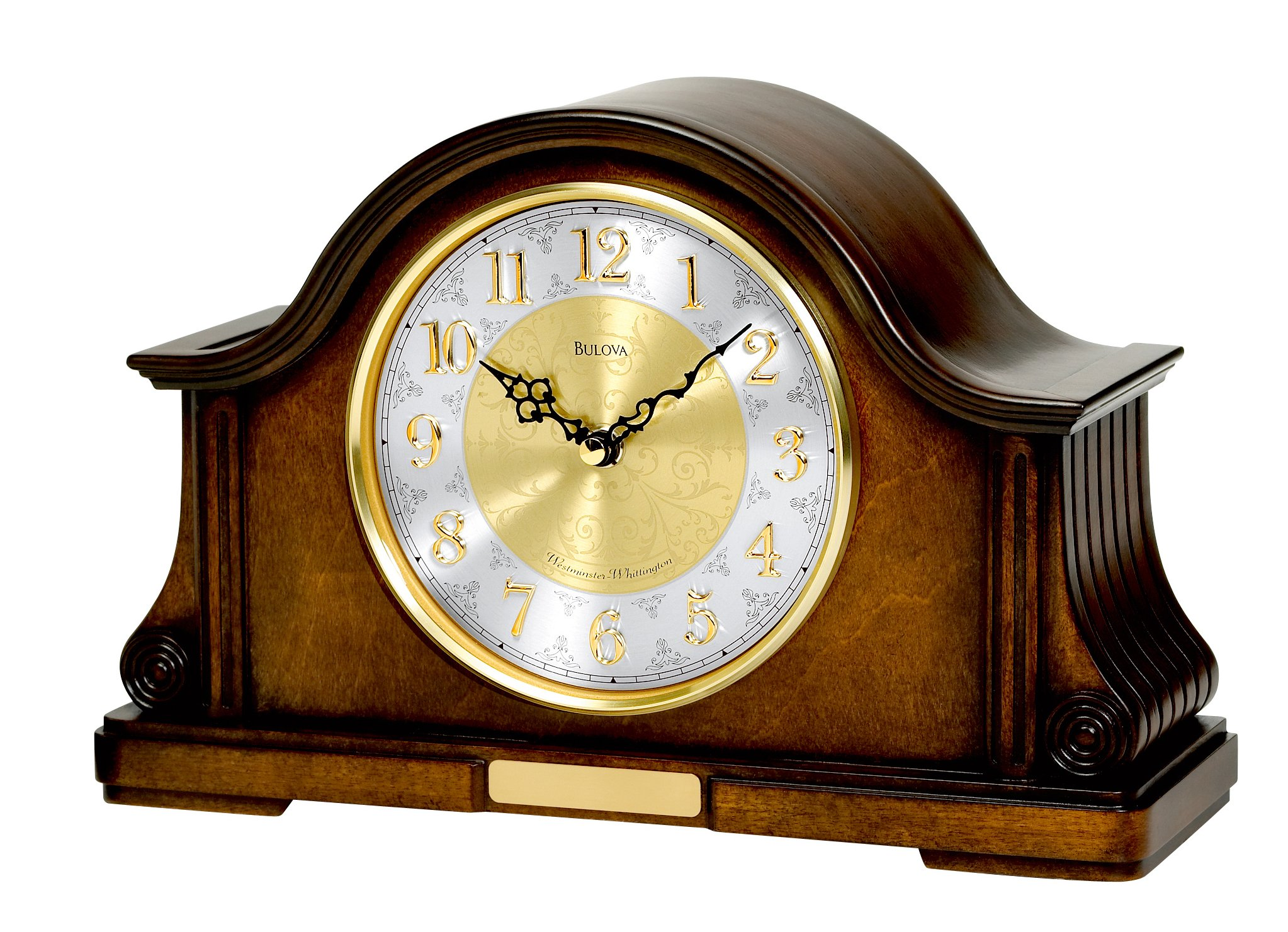 Bulova B1975 Chadbourne Old World Clock, Walnut Finish by Bulova