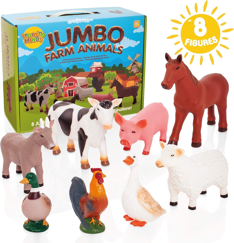 Learning Minds Conjunto de 8 Figuras Jumbo Farm Animal - 18 Meses +