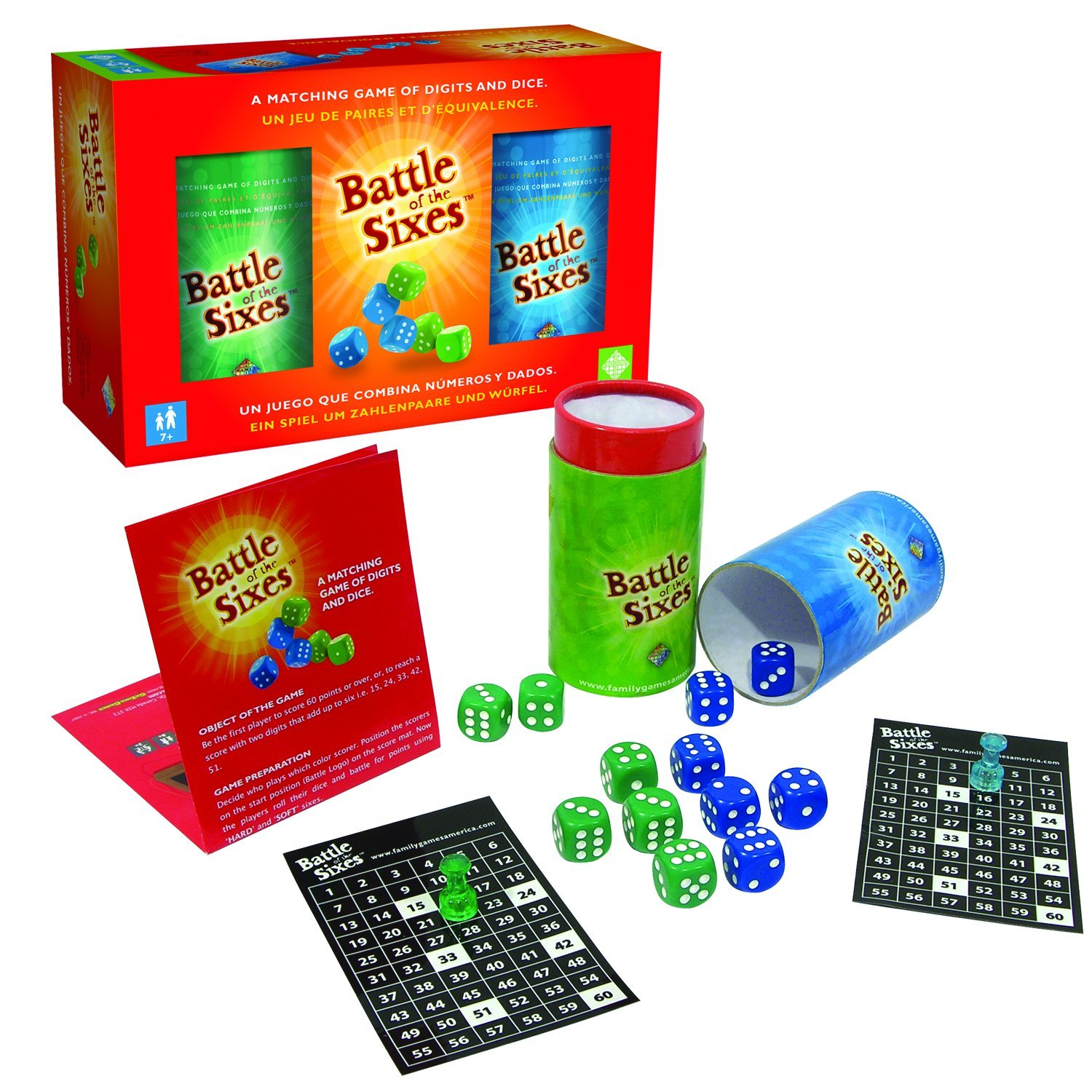 【全商品オープニング価格 特別価格】 Family Games Battle Sixes of the Sixes B00139U0CA Dice Game Games B00139U0CA, ASIANTIQUE アジアンティーク:dc88817a --- cliente.opweb0005.servidorwebfacil.com