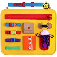 GiftInTheBox Toddler Busy Board, Montessori Sensory Activity Board for Toddlers, Learn to Dress Toy, Montessori Toys for…