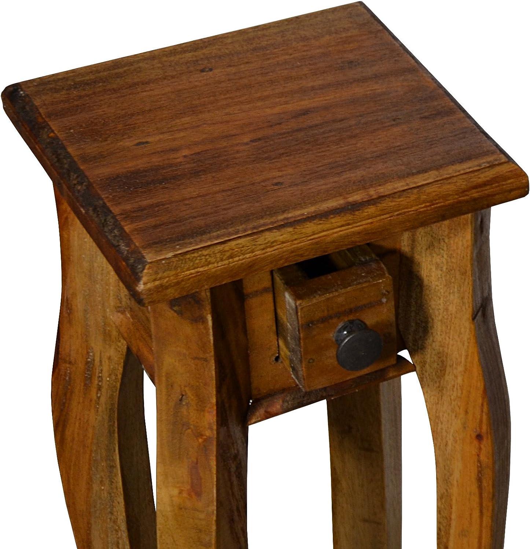 Antyki24 Sgabello fiori pianta da tavolo comodino del supporto solido legno rustico Country Styl