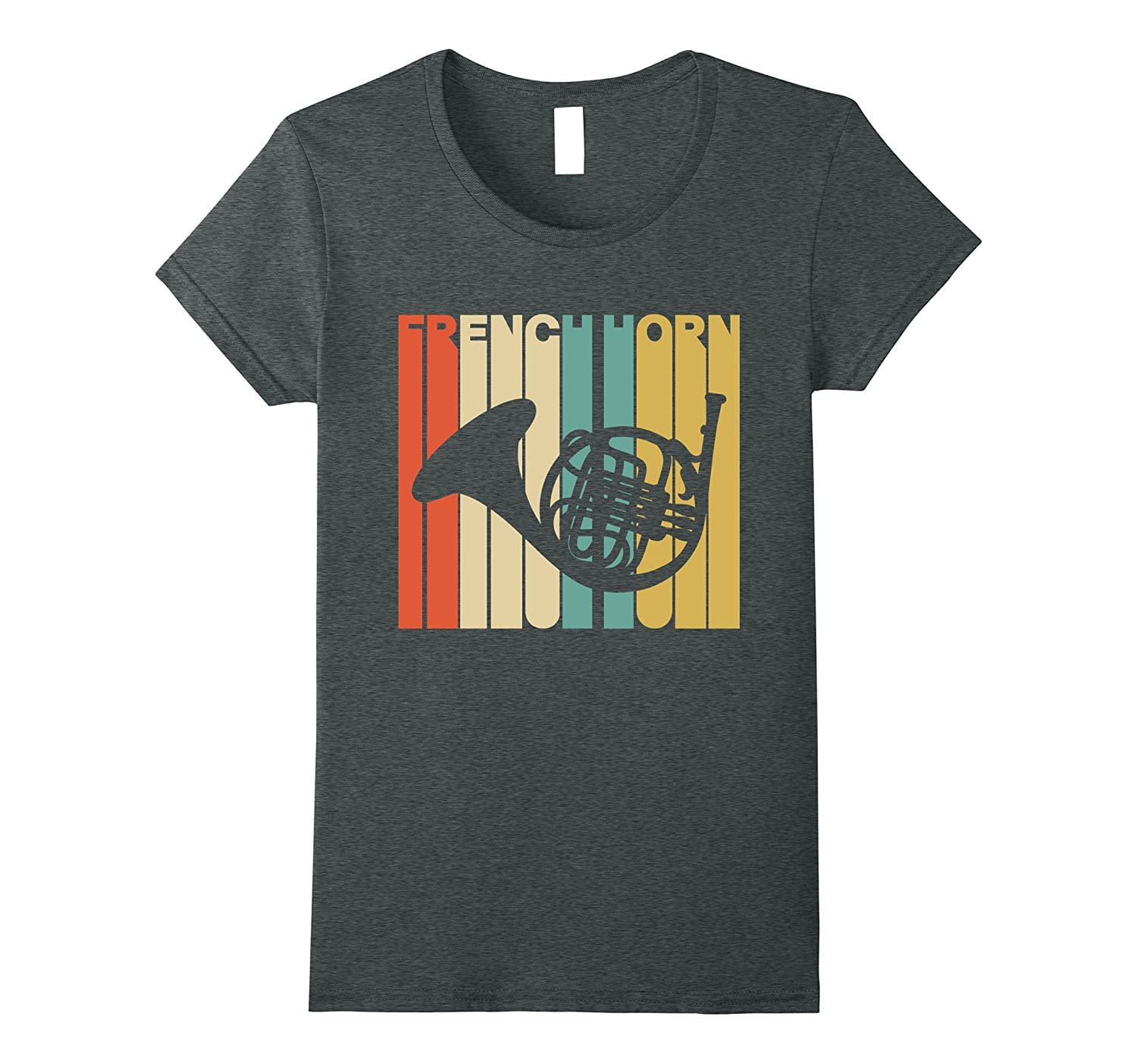 Vintage Style French Horn Silhouette T-Shirt