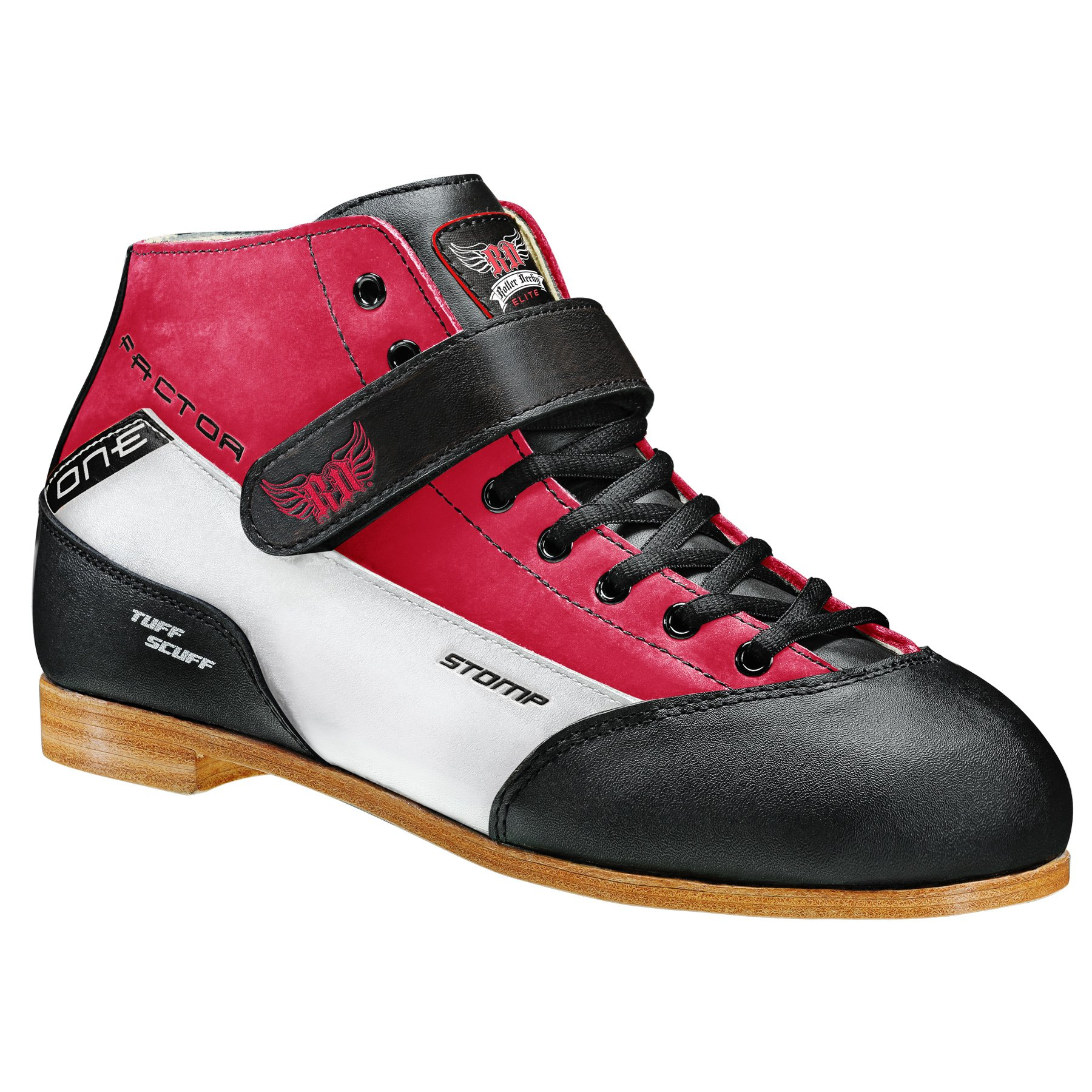 Stomp Factor-1 Derby Skate Boots colorRed size 11 by Roller Derby