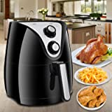 Super Deal 1500W Programmable Electric Air Fryer 3.7 Quart W/ 8 Cook Presets, Timer, Temperature Control , Detachable Basket Handles Oil Free(#4)