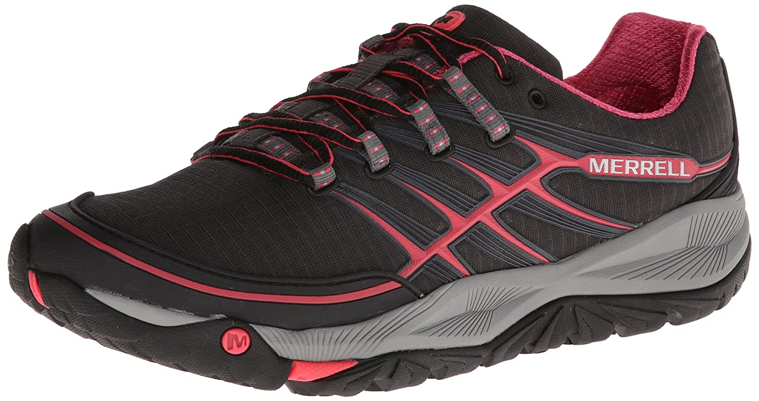 Merrell Women's All Out Rush Trail Running Shoe B00D1PG0PA 8 B(M) US|Black/Paradise Pink
