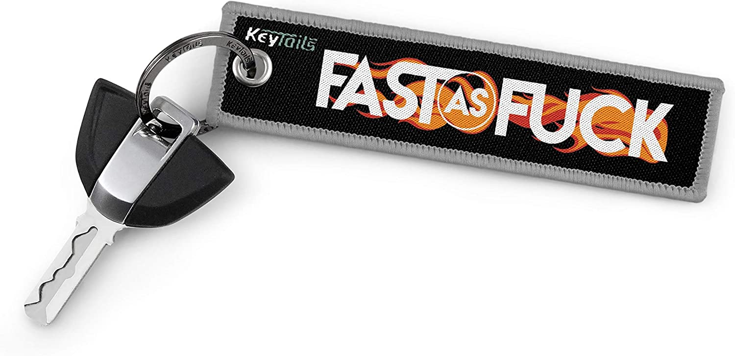 Scooter Fast As F#ck Car UTV KEYTAILS Keychains Premium Quality Key Tag for Motorcycle ATV