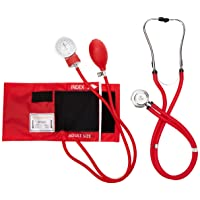 Primacare DS-9181-RD Professional Blood Pressure Kit, Includes an Aneroid Sphygmomanometer...
