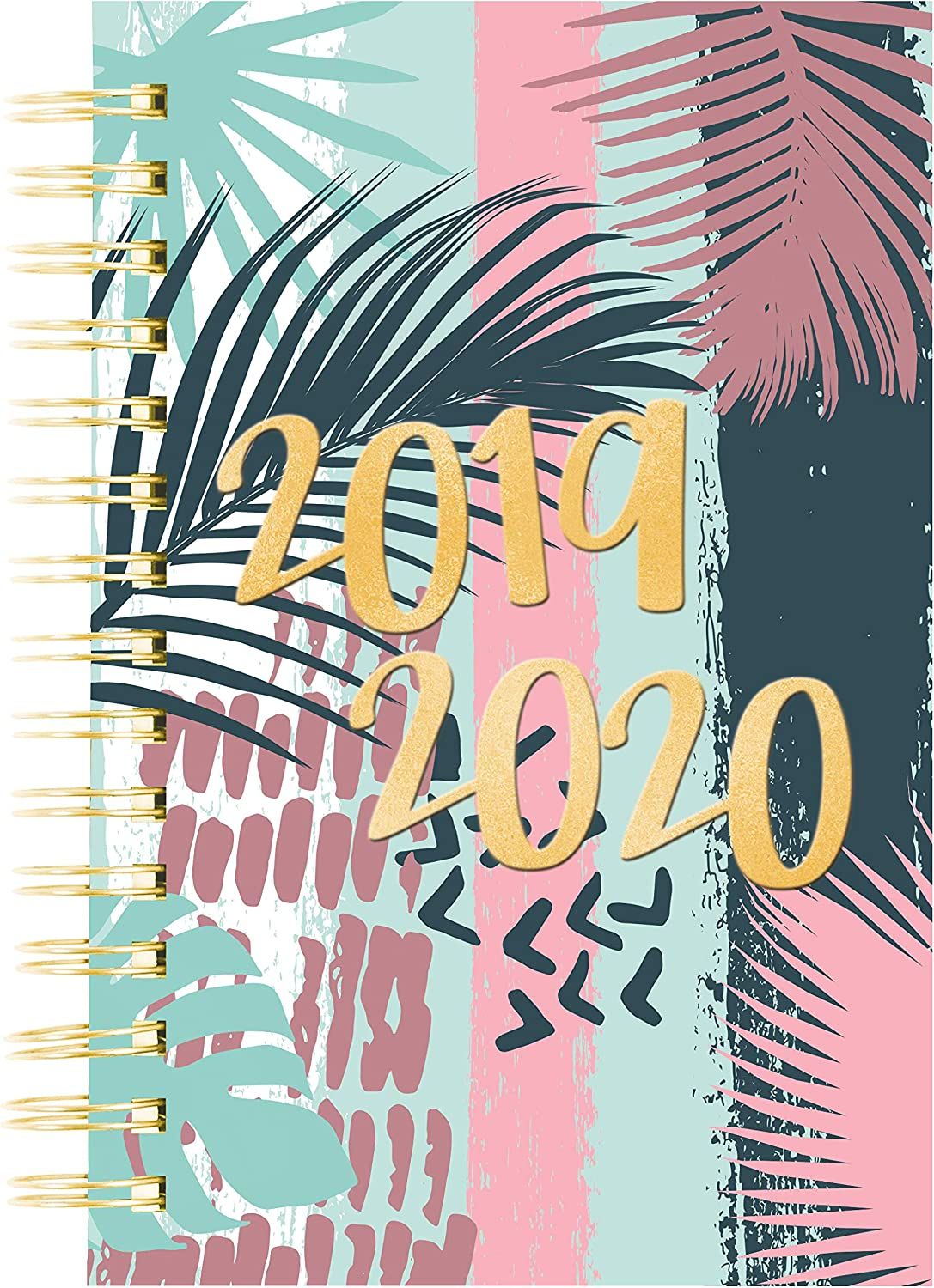July 2019 to July 2020 Blueline Weekly//Monthly Academic Planner Poly Cover CA114PG.02-20 8 x 5 Inches Tropical Design Twin-Wire Binding