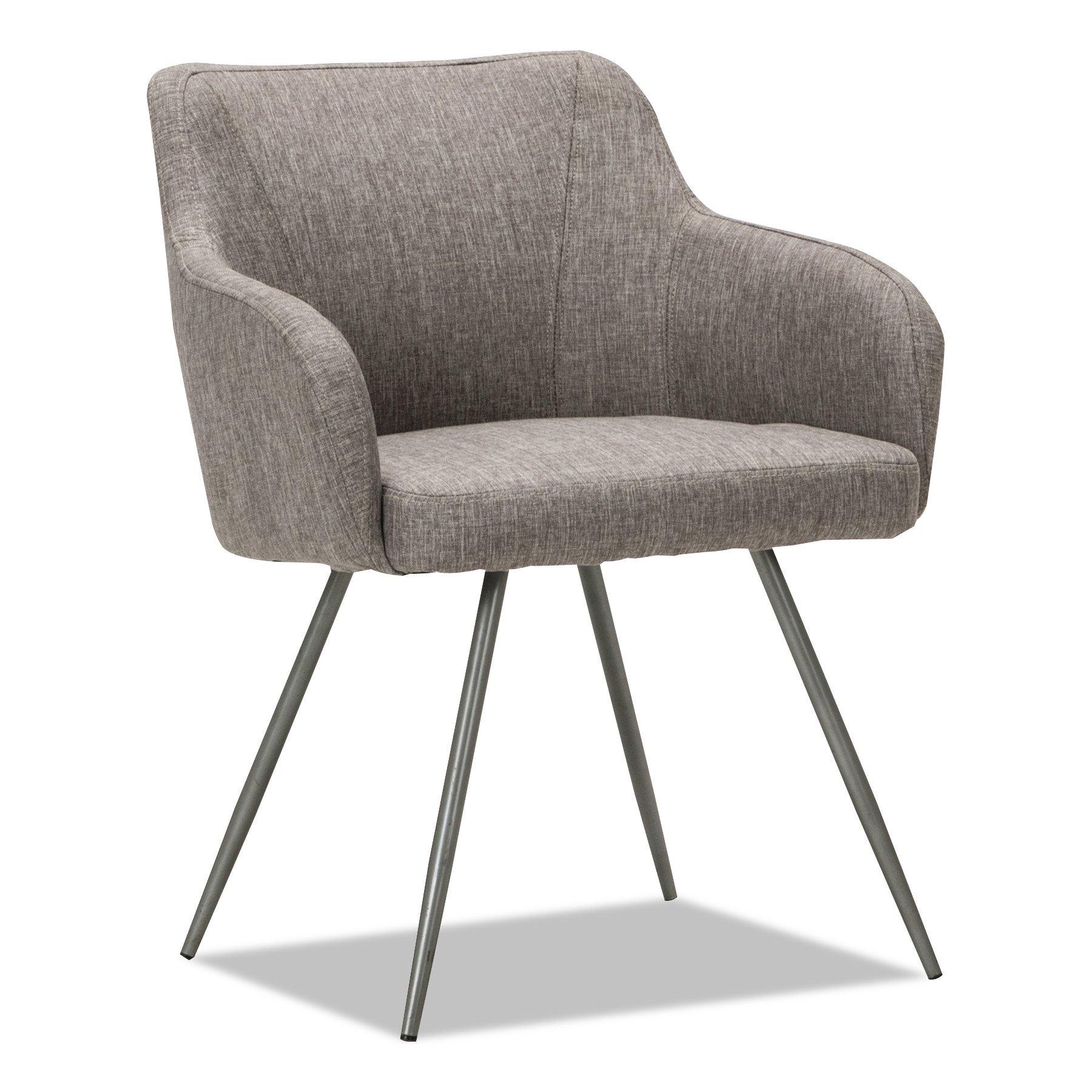 Alera ALECS4351 Captain Series Guest Chair, Gray Tweed