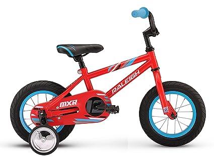 a73cbe0e2f7 Amazon.com : RALEIGH Bikes Kids MXR 12 Bike, One Size, Red : Sports ...
