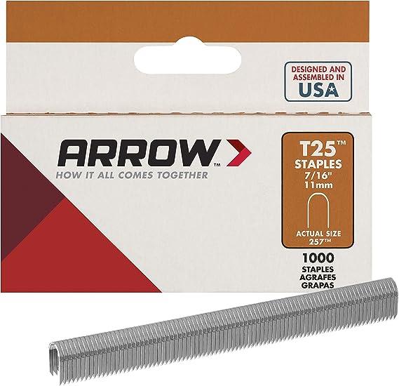 Arrow Fastener 259 M 9//16 T25 Agrafes 1000 comte