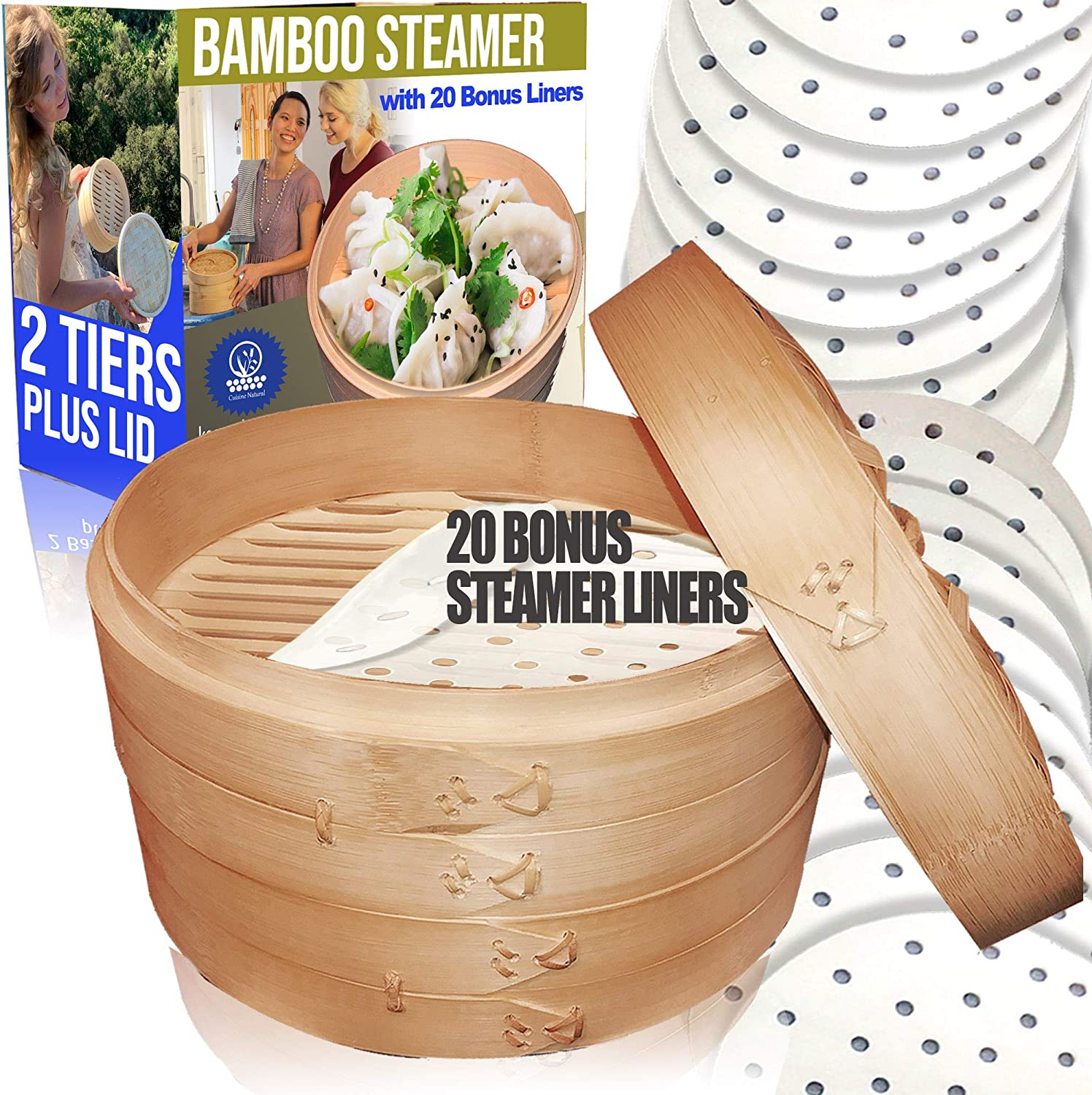 Bamboo Steamer/ 2 Tiers