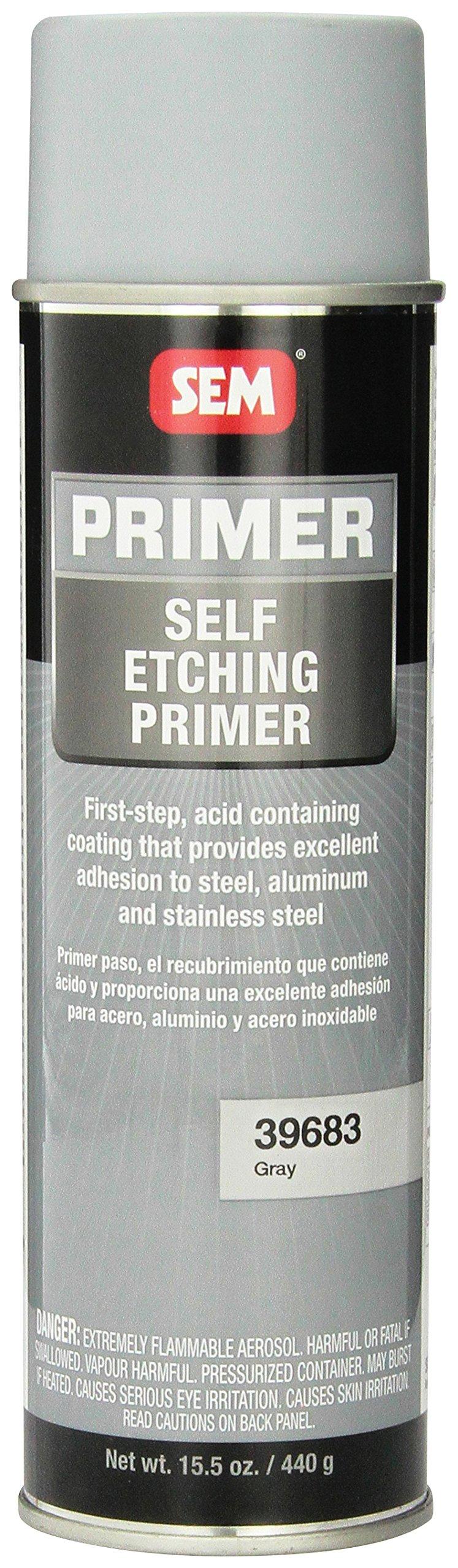 SEM 39683 Grey Self Etching Primer - 15.5 oz. by SEM