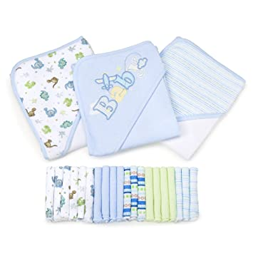 7067e8d60 Amazon.com : Spasilk 23-Piece Essential Baby Bath Gift Set, Blue : Baby