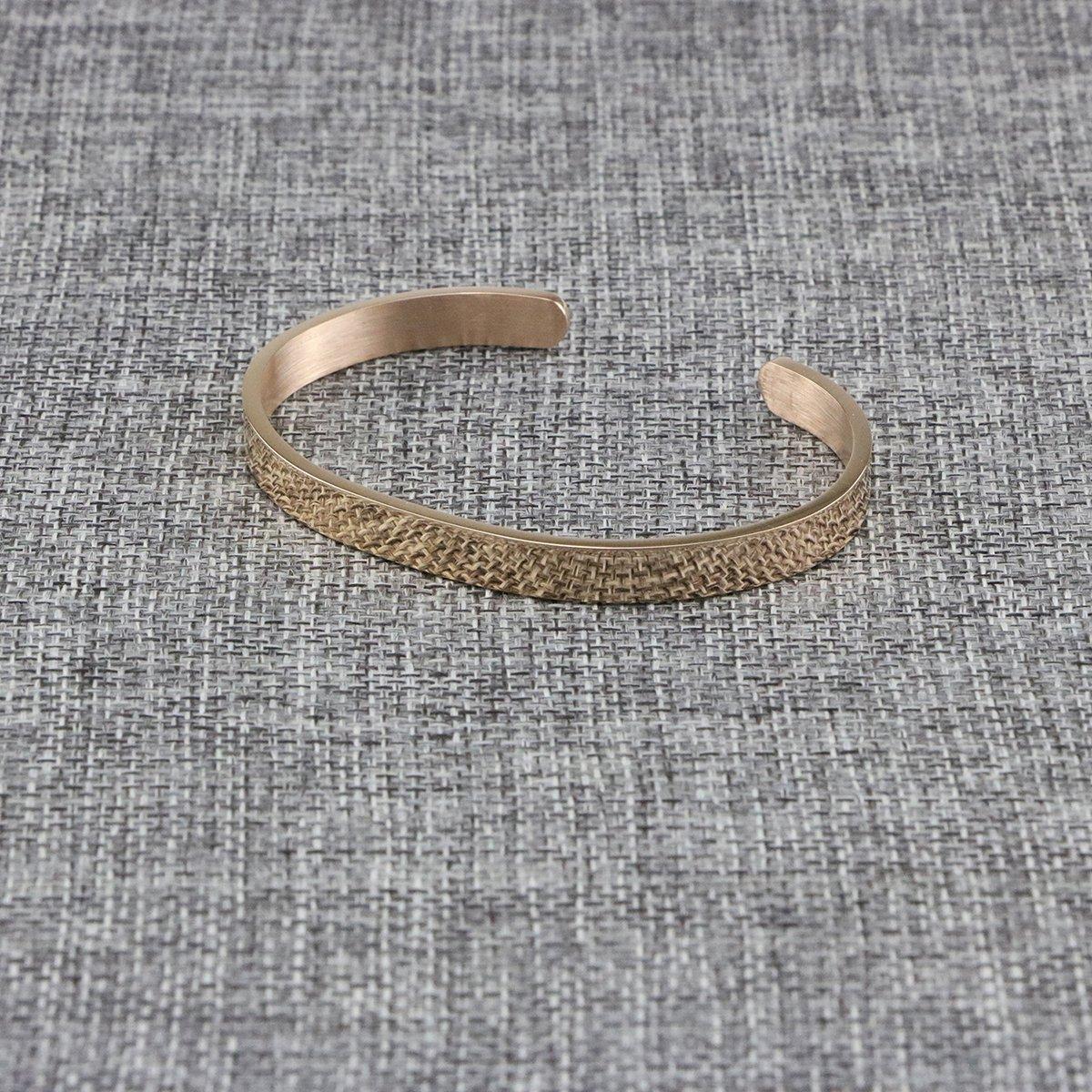 Joycuff Blank Cuff Bracelet Stainless Steel Jewelry Minimalist Simple Open Bangle