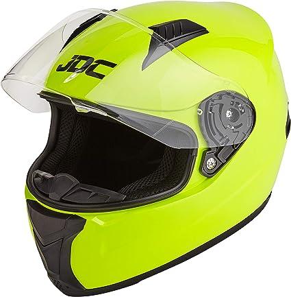 Amazon.es: JDC Casco Integral Para Motocicleta Cascosintegrales - PRISM - Amarillo Fluorescente - M