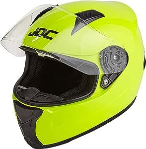 JDC Casco Integral Para Motocicleta Cascosintegrales - PRISM - Amarillo Fluorescente - M