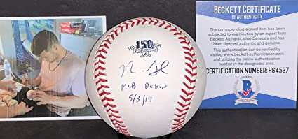 Nick Senzel Cincinnati Reds Autographed Signed Official Major League Baseball BECKETT WITNESS COA