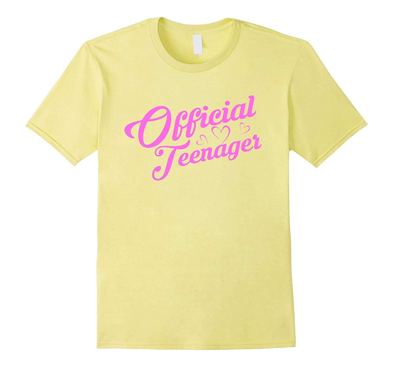 Official Teenager T Shirt - Funny 13th Birthday Girls Pink-RT