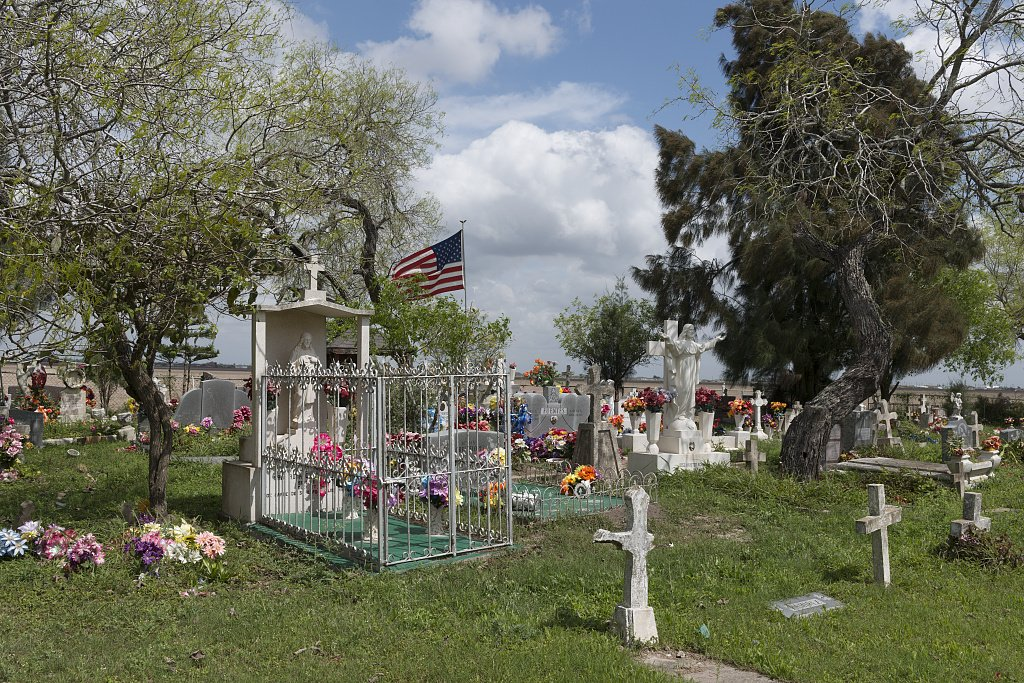 24 x 36 Giclee Print of Garcia Cemetery a Small Country Cemetery Near The Little Settlement of Los Indios in Eastern Cameron County Near The Rio Grande River Border with Mexico r06 41712 by Highs