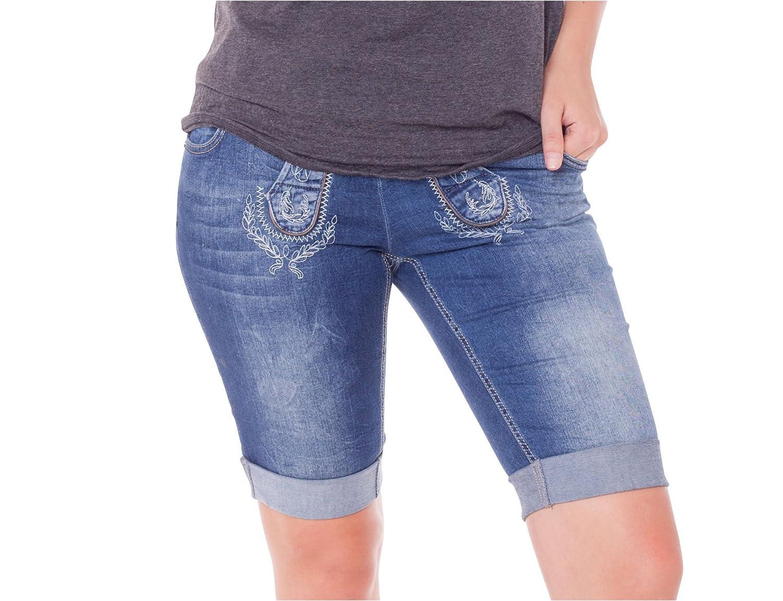 Marjo Damen Jeans Trachten Bermuda