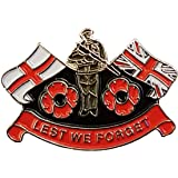 Support our troops poppy pin