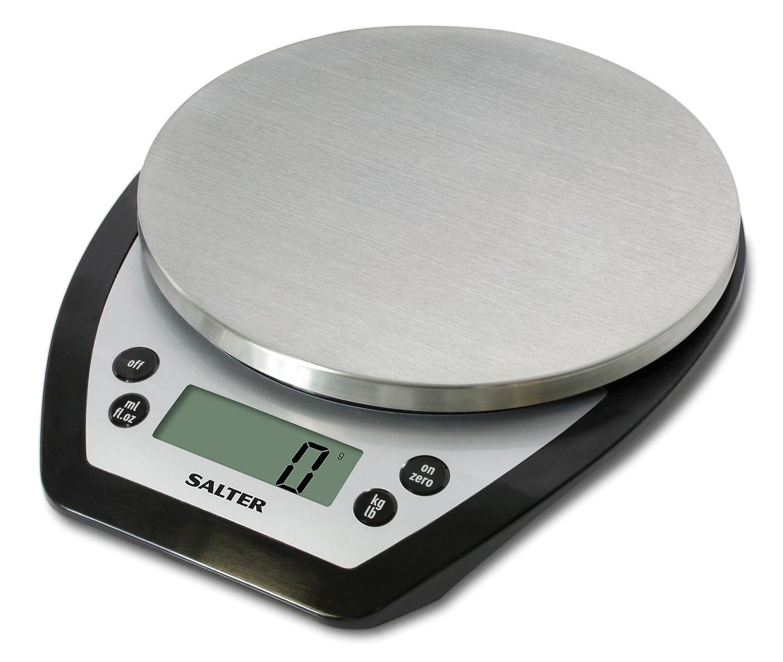 Salter Aquatronic Electronic Platform Scale, Black/Silver: Amazon.co ...