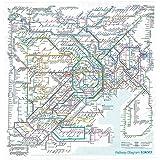 東京カートグラフィック 鉄道路線図ハンカチ 首都圏 英語 RHSE
