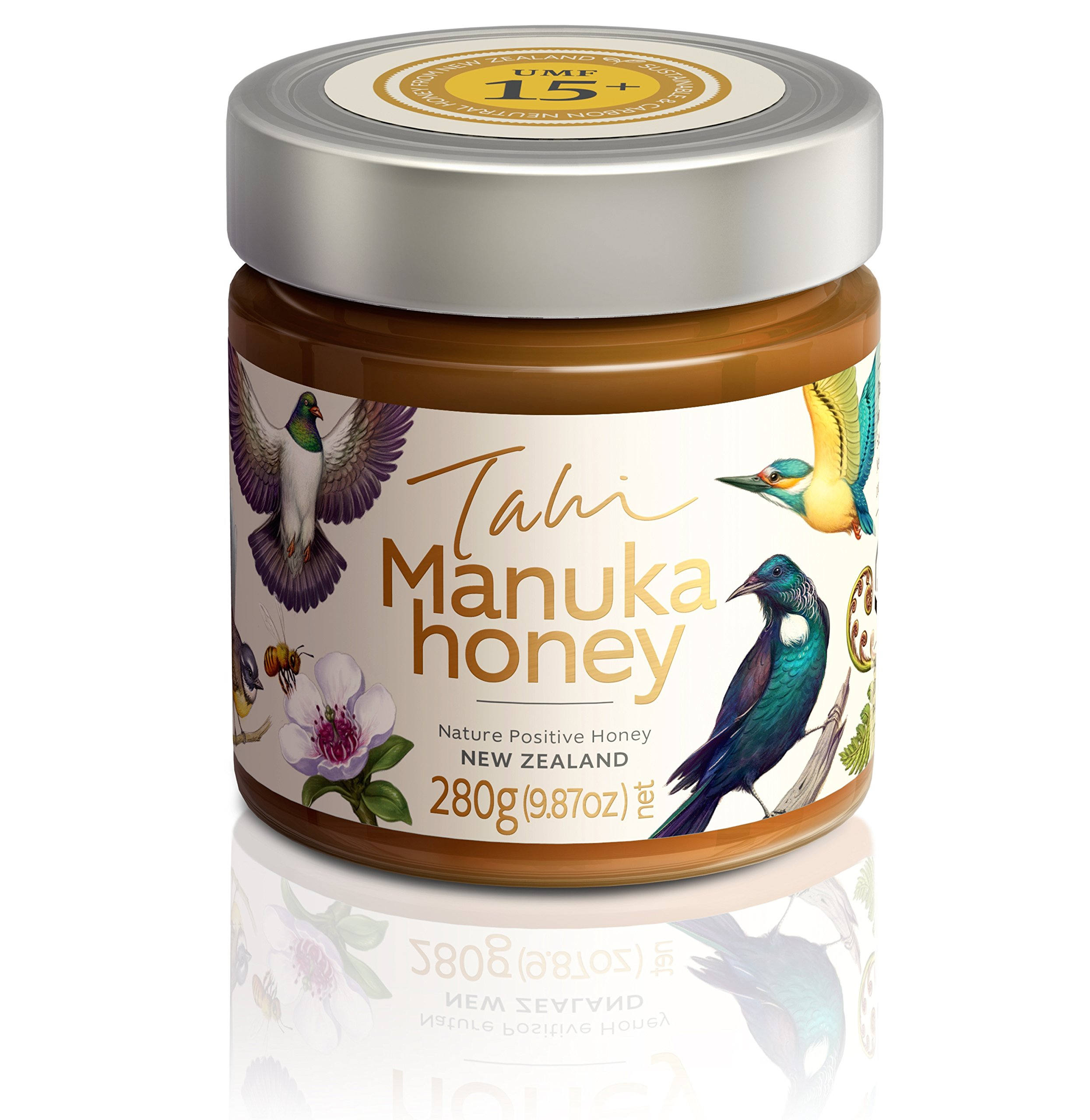 Manuka Honey UMF15+ eco-friendly, raw and pure by Tahi … (280 gram glass)