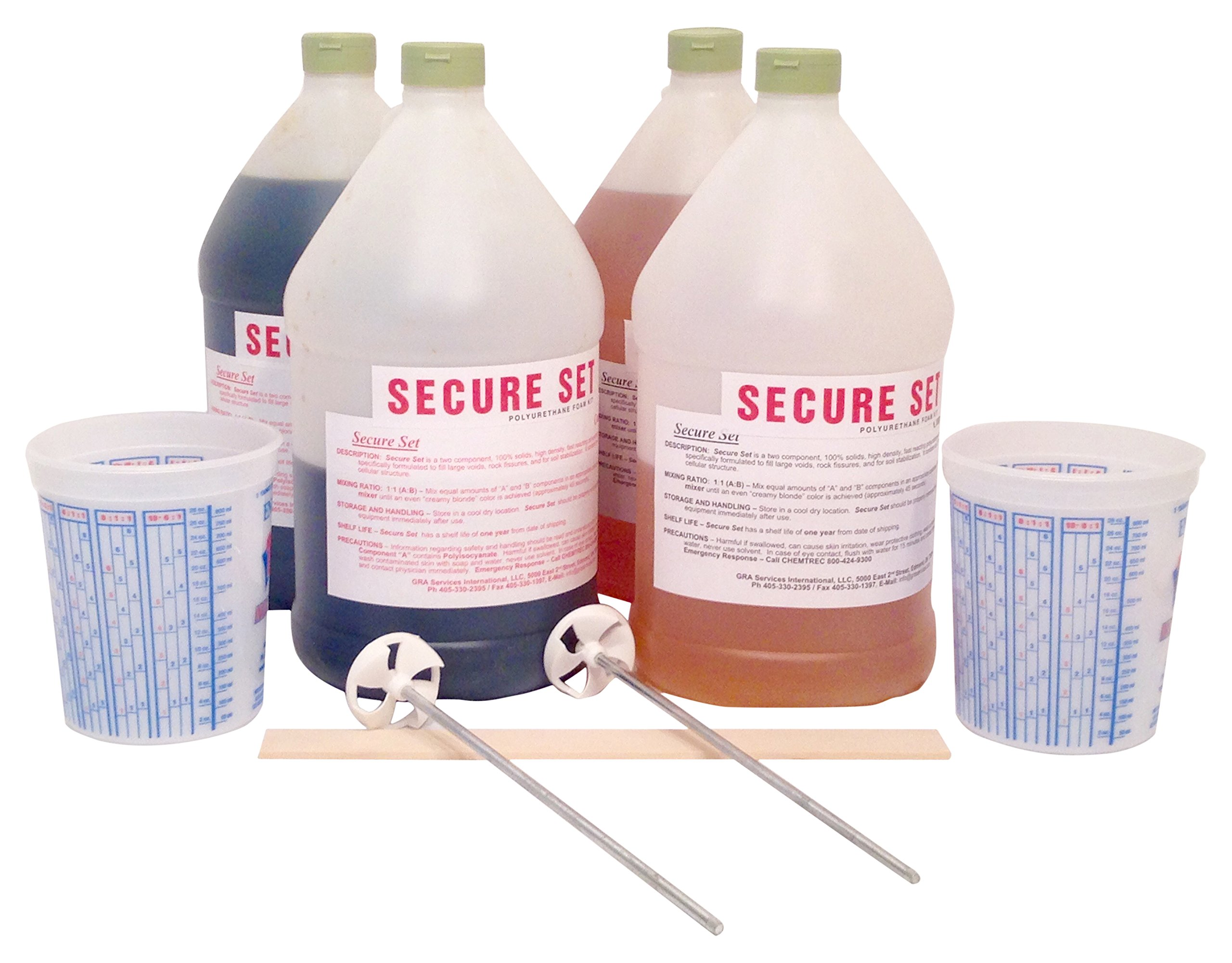 Secure Set - 15 Post Kit. Fast, Secure & Safe Concrete Alternative for Easy Fence Post Installation. Industrial Strength - Size: 3 Gallon