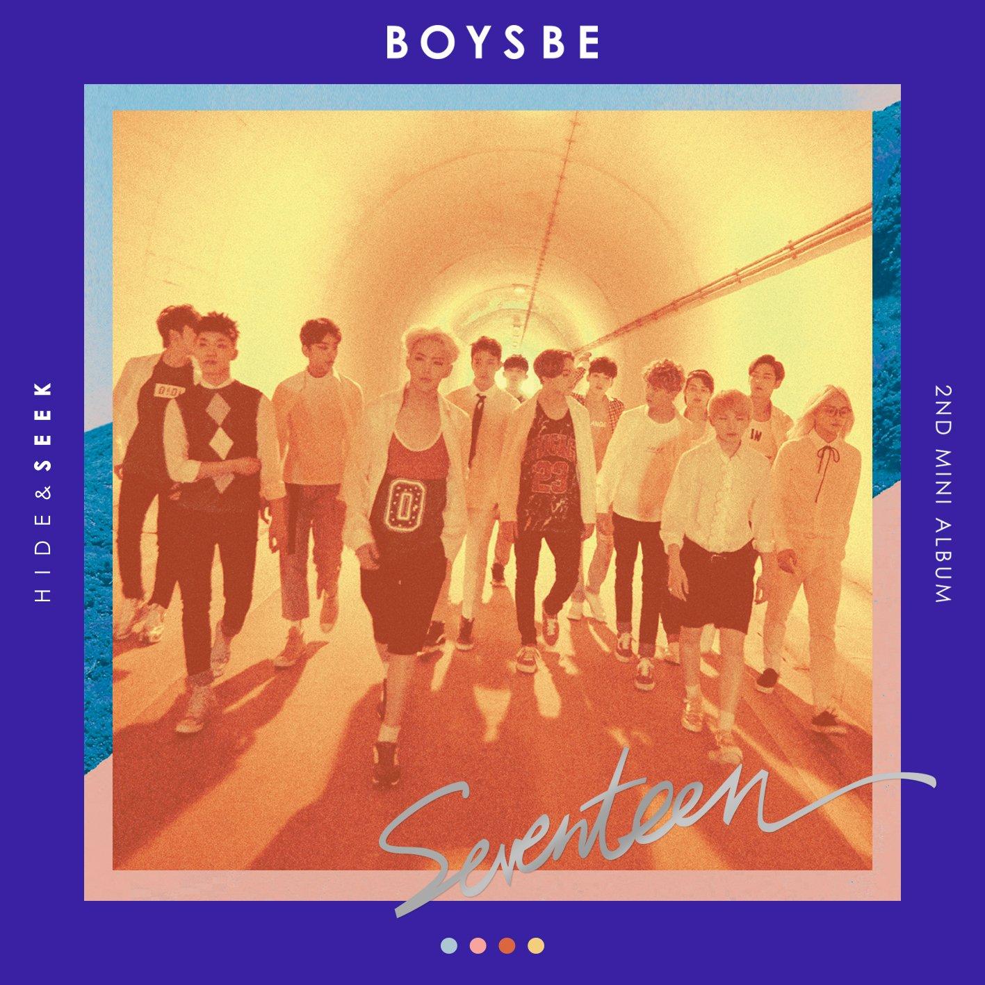 SEEK Ver. SEVENTEEN BOYS BE CD+Photobook+Photocard+Postcard+Map Poster+Gift