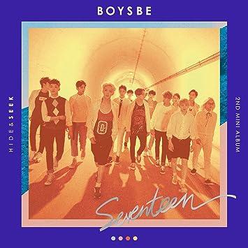 SEVENTEEN - [ BOYS BE ] 2nd Mini Album SEEK Ver  CD + Photobook + Photocard  + Postcard + Map + Sticker