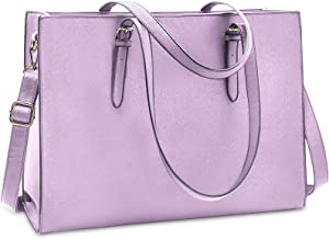 Laptop Bag for Women Waterproof Lightweight Leather 15.6 Inch Computer Tote Bag Business Office Briefcase Large Capacity Handbag Shoulder Bag Professional Office Work Bag Purple