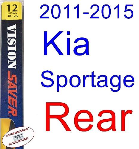 Amazon.com: 2011-2015 Kia Sportage Wiper Blade (Rear) (Saver Automotive Products-Vision Saver) (2012,2013,2014): Automotive