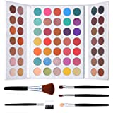 Pro 63 Colors Eyeshadow Palette with Makeup Brushes Set Highly Pigmented Matte Shimmer Make Up Eyeshadow Palette Pigmented Ey