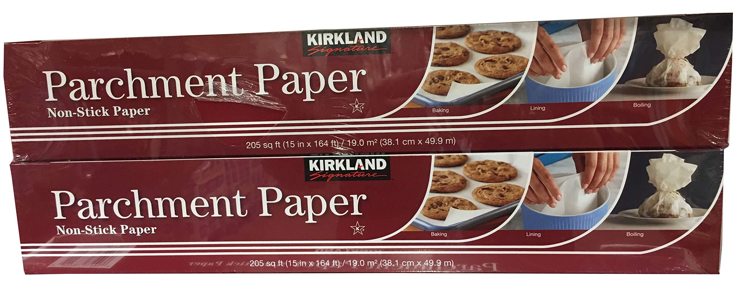 Kirkland Signature Non Stick Parchment Paper 205 sq ft (Twin Pack) by Kirkland Signature