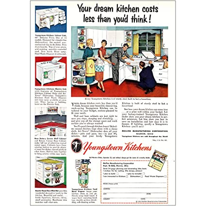 Amazon.com: RelicPaper 1952 Youngstown Kitchens: Dream ...