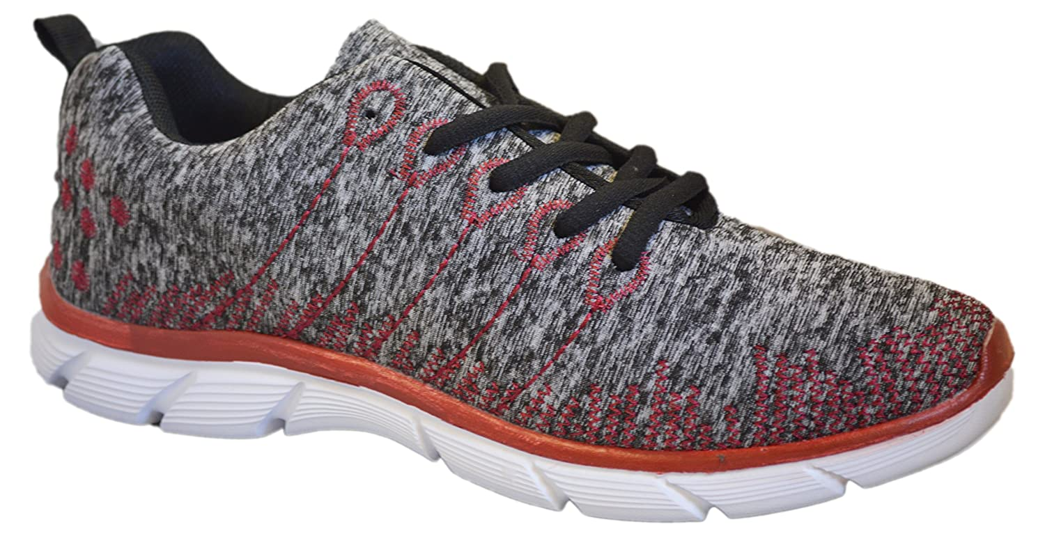 Womens Sneakers Athletic Knit Mesh Running Light Weight Go Easy Walking Casual Comfort Running Shoes 2.0 B07D3XWPKX 10 M US|Red / Grey With Memory Foam Insole